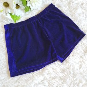 Jed North Blue Velvet Shorts Size Small Activewear Workour Gym Yoga Bottoms